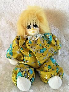 Q-Tee Clown 1987 Hand Made, Hand Painted Face, & Fur Hair, Vintage With Tags