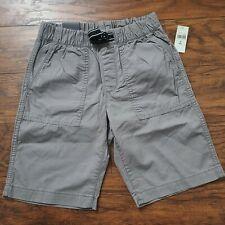 Gap Kids Boys Shorts Gray Cotton Canvas Size M 8 NWT Pull On Elastic Waist