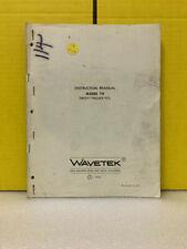 Wavetek Model 114 Sweeptrigger Vcg Instruction Manual