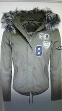 "New ""Brave Soul"" Ladies Womens Fur Hooded Parka Badge Jacket Coat.14 Large."