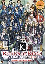 K : Return of Kings Komplett Anime Serie DVD Englisch Untertitel
