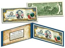 INDIANA Statehood $2 Two-Dollar Colorized U.S. Bill IN State *Legal Tender*