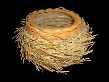 Vintage Basket Bowl with Texture - Nest - Like -Spikes -Twigs size  4 x 4