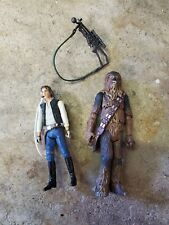 Star Wars Legacy 2008 Millennium Falcon Han Solo and Chewbacca original figures