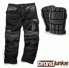 SCRUFFS Trade 3d Work Trousers 30-40 Waist 29 31 33 Leg BLACK FREE KNEEPADS