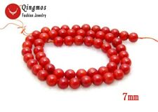 """6mm Round Red Natural Coral Loose Beads for Jewelry Making DIY Loose Strand 15"""""""
