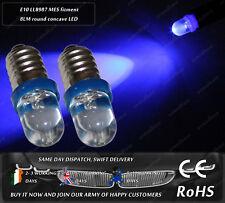 LED E10 Screw Base LLB987 Xenon Blue Interior Dash Speedo Odometer Light Bulbs