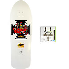 Black Label Skateboard Deck Riky Barnes Red Baron White Sk8ology Wall Mount