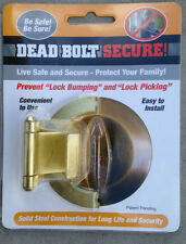 Prevents Lock Bumping and key Bumping. Deadbolt Secure
