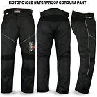 Motorbike Motorcycle Waterproof Cordura Textile Trousers Pants Armours BLACK