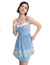 Disney Beauty And The Beast Belle Border Print Lace-Up Dress - Medium New