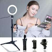 "6"" Desktop Selfie  LED Ring Light with stand phone holder for Live vedio Makeup"