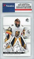 Marc-Andre Fleury Golden Knights Signed 2019-20 Upper Deck SP Authentic #16 Card