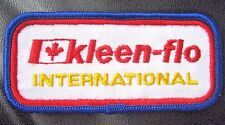 "KLEEN FLO EMBROIDERED PATCH INTERNATIONAL OIL CANADIAN ADVERTISING 4 1/4"" x 2"""