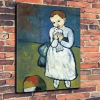 """Picasso - Girl With Dove Printed Box Canvas Picture A1.30""""x20"""" Deep 30mm Frame"""