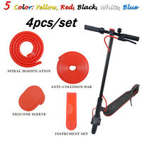 4pcs/set Scooter Protection Spiral Strip Silicone Cover for Xiaomi M365 M365Pro