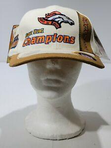 Denver Broncos Super BOWL XXXIII 33 Champions Back to Back Hat NFL 1999 NWT