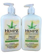 2 NEW Hempz SUGARCANE & PAPAYA Fresh Fusions Moisturizer Lotion 17oz Bottles
