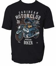Pirate Biker mens t shirt motor motorcycle biker garage S-3XL