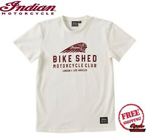 BSMC X INDIAN MOTORCYCLE WHITE UNISEX SHORT SLEEVE TEE
