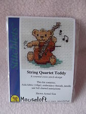 MOUSELOFT STITCHLETS CROSS STITCH KIT ~ STRING QUARTET TEDDY ~ NEW