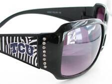 TCU Texas Christian Horned Frogs Black Zebra Print Women Sunglasses 4 ZB