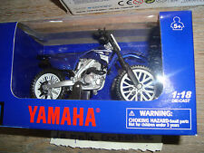 MOTO MINIATURE YAMAHA YZF 450 F (2008) NEUVE EN BOITE NEW RAY 1/18°