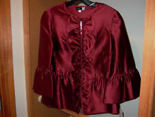 New Saks Fifth Avenue Classic Silk Blouse Sz 8 Great Style & Color Must See!