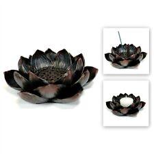 LOTUS INCENSE BURNER & CANDLE HOLDER Blossom Votive HIGH QUALITY Resin Flower