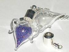 1 LARGE Glass Amphora tear Pendant bottle SCREW CAP*