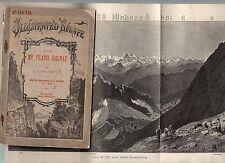C1889 1st Ed MT PILATUS RAILWAY 50 page Handbook SWITZERLAND World's STEEPEST