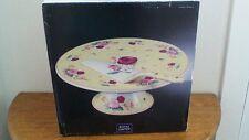"""Royal Limited Porcelain """"Vintage Rose"""" Footed Cake Plate and Server"""