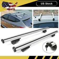 "48"" Aluminum Car Top Cross Bar Roof Rack Cargo Luggage Carrier rail Universal"