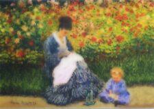 Camille Monet und Kinder in Künstler Garten Argenteuil Motion Linsenförmiges