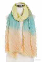 ScarvesMe Women's Pleater Tie Dye Watercolor Accent Spring Oblong Shawl Scarf