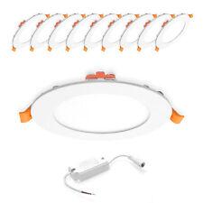 10x 6W LED Panel Rund Einbaustrahler Einbauspot Neutralweiß Ø120mm AC230V weiß