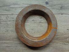 Vintage Cast Iron Collar Ring Industrial Rusty Salvage Repurpose Steampunk