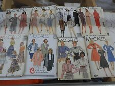84 VINTAGE Sewing Pattern LOT womens  Butterick Simplicity McCall Vogue Sew Easy