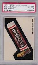 1974 Topps Wacky Packages FOOTSIE ROLL PSA 6 EXMT Series 6 Packs CENTERED