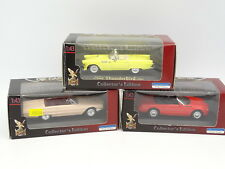 Road Champs 1/43 - Set of 3 Ford Thunderbird