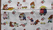 """VINTAGE ALEXANDER HENRY COLLECTION FABRIC, TEDDY BEARS & ACTIVITIES, 44"""" X 37"""""""