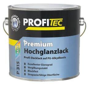 Profitec Premium Hochglanzlack P 315 2,5 Liter PU-Alkydbasis Vergilbungsstabil