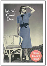 1930s Casual Dress Vintage Crochet Pattern - Copy