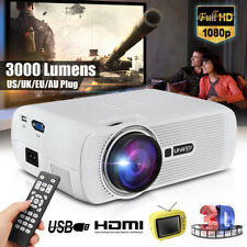 1080P FULL HD Multimedia Portable Projector 3D LED Home Theater Cinema TV Video