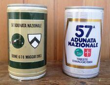 ggt 12 MORETTI e PERONI 2 lattine birra adunate alpini 1983 Udine e 1984 Trieste