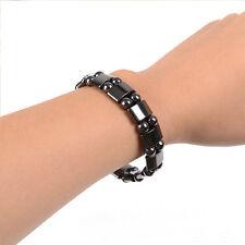 Popular 1PC Black Magnetic Hematite Healing Mens Womens Loose Beads Bracelet