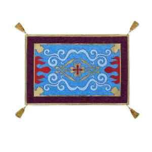 "Disney Aladdin Magic Carpet Area Rug Authentic  24""X36"" with Tassels NEW"