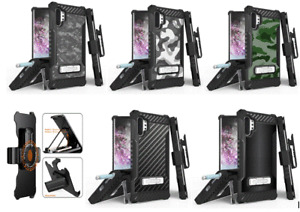 For Galaxy Note  9 10 10+ Tri Shield Design Armor Belt CLIP Holster Cover Case