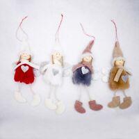 3X(Niedlichen Engel Pluesch Puppe Weihnachten Dekoration Anhanger Kreative Z7I6