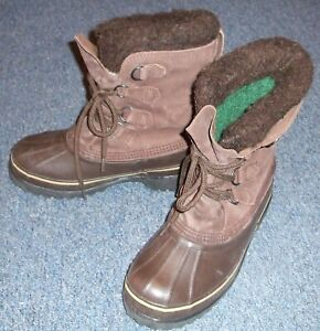 Women's SOREL Winter Snow Boots CARIBOU Insulated Waterproof Size 8 Brown